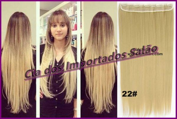 MEGA HAIR APLIQUE TIC TAC LOIRO DOURADO #22 130 GRAMAS 60/65 CM PRONTA ENTREGA!